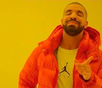 Print do single hotline bling do rapper Drake